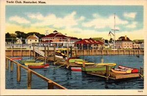 Postcard Yacht Club Nantucket Mass