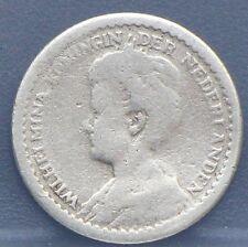 Nederland - Netherlands 10 cent 1912 B dubbeltje 1912 B Wilhelmina. KM# 145