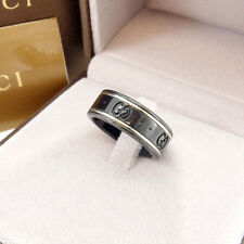 Gucci ring Interlocking Black Woman Authentic Used Y2957