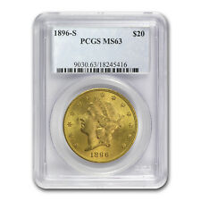 1896-S $20 Liberty Gold Double Eagle MS-63 PCGS - SKU#75171