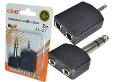 Adattatore Sdoppiatore Audio Video 2 in 1 Jack 6,35mm e 3,5mm Linq Av-27