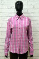 Camicia GAS BASIC Donna Taglia Size L Maglia Blusa Shirt Manica Lunga a Quadri