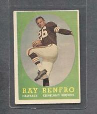 1958 Topps Football #17 Ray Renfro (Browns)  Vg  (Flat Rate Ship)