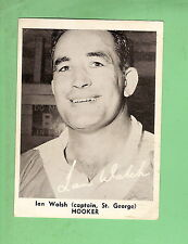1967 MIRROR NEWSPAPER RUGBY LEAGUE CARD - IAN WALSH, ST GEORGE