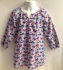 LITTLE MAVEN Tori Spelling Girl's Sz 4Y Bird Print Dress Tunic Gray Corduroy