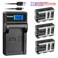 Kastar Battery LCD Charger for Sony NP-FM500H & Sony DSLR-A850B DSLR-A850Q