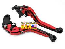 Red Folding Brake Clutch Levers Honda CBR1000RR/FIREBLADE 04-07 CB1000R 08-2012