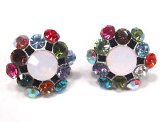 SoHo® Ohrstecker Ohrringe geschliffene Kristalle multicolor Strass kunterbunt