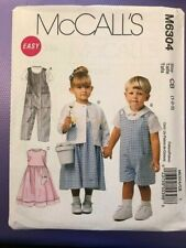 McCall's Pattern M6304 Child boy girl dress top dungarees  age 1-3