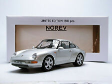 Norev 1993 Porsche 911 993 Carrera Coupe Silver Met LE of 1500 1/18 New In Stock