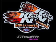 Genuine 2x K&N Horsepower Stickers Decals Motorsport, Drift, Track, Rally