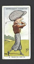 CHURCHMAN - SPORTING CELEBRITIES - #34 E MARTIN SMITH, GOLF