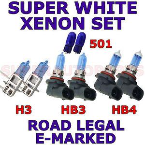 FITS ALFA ROMEO GTV COUPE 1996-2003 SET H3 HB3 HB4 501 SUPER LIGHT BULBS HALOGEN