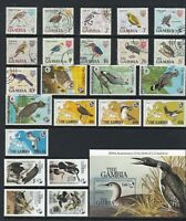 BIRDS Thematic STAMP Collection GAMBIA 1960s-1985 UNMOUNTED MINT USED Ref:TT649