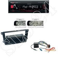 Kenwood KMM-202 USB Radio + VW Beetle Caddy Radioblende + Quadlock ISO Adapter