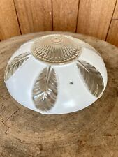 "Vintage White Frosted Glass Light Shade 10"" Ceiling Fixture"