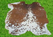 """New Cowhide Rug Hair On COWHIDE Area Rug(54"""" x 38"""")Animal Carpet 14.3 SF SM1676"""