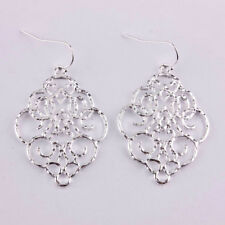 Cut Out Morocco Hollow Floral Statement Dangle Drop Earrings for Women Jewelry