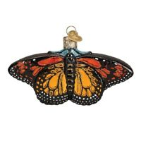 Old World Christmas Monarch Butterfly Bug Glass Tree Ornament 12475 FREE BOX New