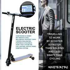 """Folding Push Kick Electric Scooter 5"""" Wheel Suspension Adult Commuter City 250W"""
