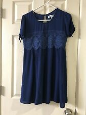 Womens Large Almost Famous Short Sleeve Blue Top