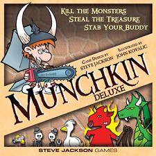 Munchkin Deluxe, Boad Game, New, Free Shipping.