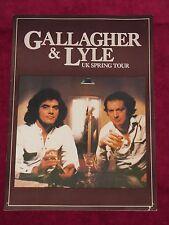 GALLAGHER AND LYLE - UK SPRING TOUR 1978 PROGRAMME! w/TICKET STUB SOUTHAMPTON!