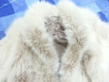 GREAT WHITE / SHADOW / ARCTIC FOX FUR COAT / JACKET SIZE LARGE / XL / 14 / 16