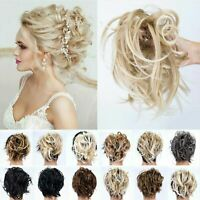 Thick Curly Messy Bun Ponytail Hair Piece Scrunchie Elastic Updo Hair Extensions