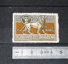 CINDERELLA TIMBRE VIGNETTE FOIRE DE LYON 1916 1er AU 15 MARS