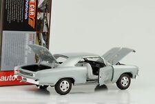 1966 CHEVROLET CHEVY CHEVELLE SS 396 bleu clair métallisé 1:18 Auto World ERTL