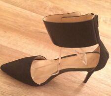 Zara High Heel Sued Shoe  With  Bling Back . Pointed Toe . UK7 /EU41