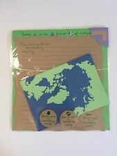 ART BOX MESSAGE LETTER SET EARTH NATURE STATIONERY STATIONARY NEW