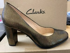 CLARKS Caylin Cara Shoes/Pumps Bronze metallic uk size 6 bnib