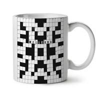 Crossword Wellcoda NEW White Tea Coffee Mug 11 oz | Wellcoda