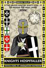 Knights Hospitaller 13x19 Recruitment Poster