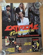 1991 Extreme Pornograffiti Promo Poster Cd Cassette Video - A&M Records