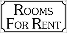 Rooms for Rent- 6x12 Aluminum Real estate House Bar Man cave sign