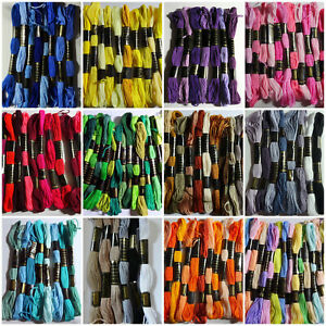 6 Mixed Colour 8 Metre Skeins of Duchess / Trebla Embroidery Thread 100% COTTON