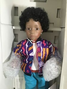 "William Tung Collection Porcelain Soft body Boy AA 18"" Dwayne 80s Clothing 18310"