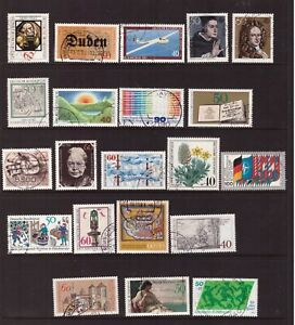 Germany 1980 used stamps selection