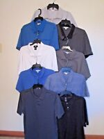 Calvin Klein Mens Polo Casual Shirt Short Sleeve M L XL Blue Black Gray