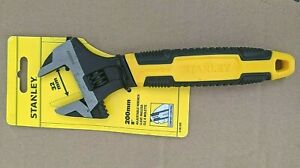 STANLEY 200MM ADJUSTABLE WRENCH NEW CONTROL GRIP