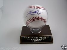 BASEBALL HOME RUN TROPHY BALL HOLDER PROTECTIVE  DISPLAY CASE-FREE ENGRAVING!!!
