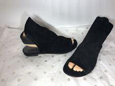 New STUART WEITZMAN  Black  Suede Gladiator Sandals/Shoes Sz. 7-M