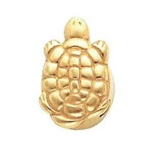 Turtle Slide Bracelet Charm 14K or 10K Yellow or White Gold