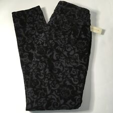 NEW Romeo & Juliet Couture Charcoal Gray Black Scroll Design Jeans Sz 27 RJ29169