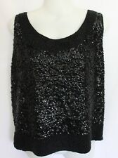 VINTAGE 1960's Black Sequinned Sleeveless Cocktail Top 10