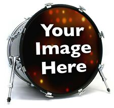"22"" Custom Bass Drum Head with Port Ring mic hole - by Vintage Logos Inc."