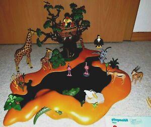 Playmobil  4827  große Savanne mit Baum und vielen Tieren